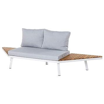 Sofá de 2 plazas de Exterior Blanco de Aluminio para terraza ...