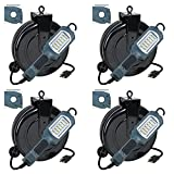 Case of 4HOT NEW ITEM LED Cord Reel Shop Garage Work Light 1000 Lumens 5030AHS