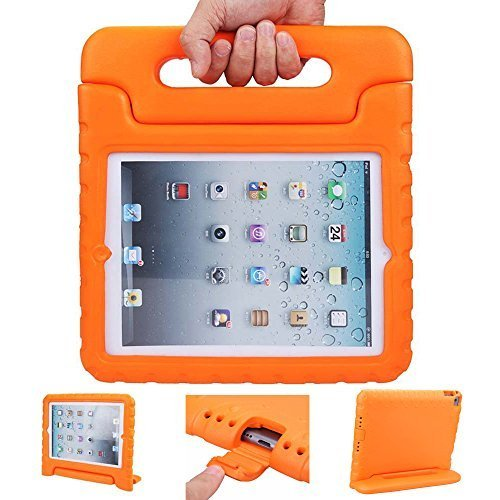 iPad case - iPad 2 3 4 Case - ANTS TECH Light Weight [ Shockproof ] Cases Cover with Handle Stand for Kids Children for iPad 2 & iPad 3 & iPad 4 (iPad 234 - Orange)