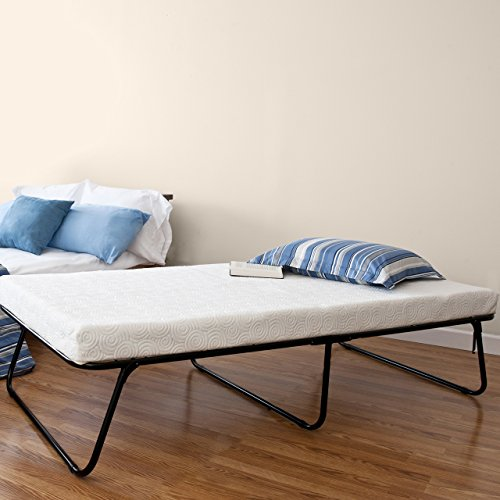 Zinus Traveler Premier Folding Twin Guest Bed, Plus Bonus Storage - Twin Storage Mattress Bag