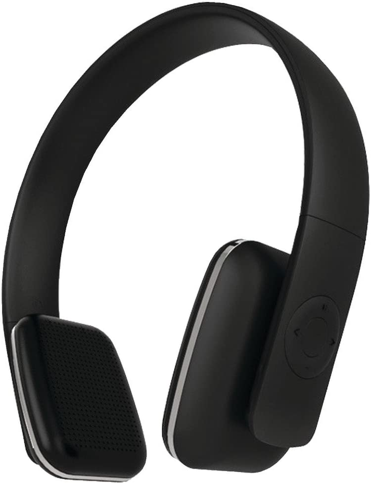 Leme EB20A Wireless Ergonomic Bluetooth 4.0 Over Ear Headphone with Built-in Mic and 12 Hour Battery, with Noise Reduction and Echo Cancellation, Perfect Headset for Gaming and Music Black
