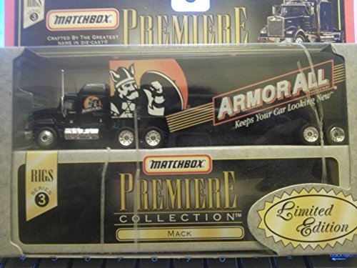 Matchbox Tractor Trailer - MATCHBOX Super Rigs - Armor All Series 3 Mack - Tractor / Trailer Replica Vehicle - 1:64 Scale
