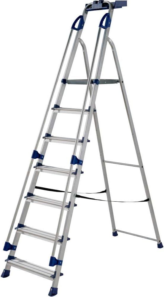 Werner 705 Series - Escalera de aluminio para estación de trabajo, plateado: Amazon.es: Bricolaje y herramientas