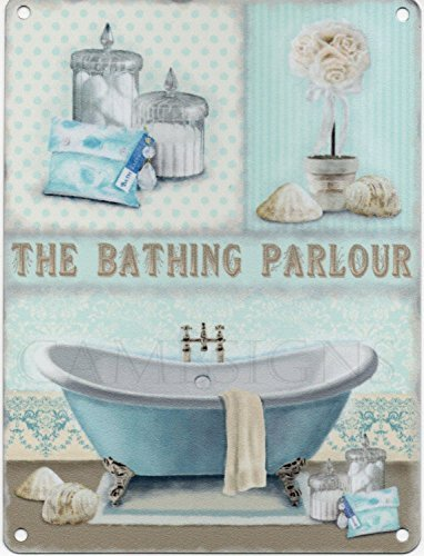 Bathing Parlour Vintage Artwork Metal Sign Small by METALSIGN by Metalsign