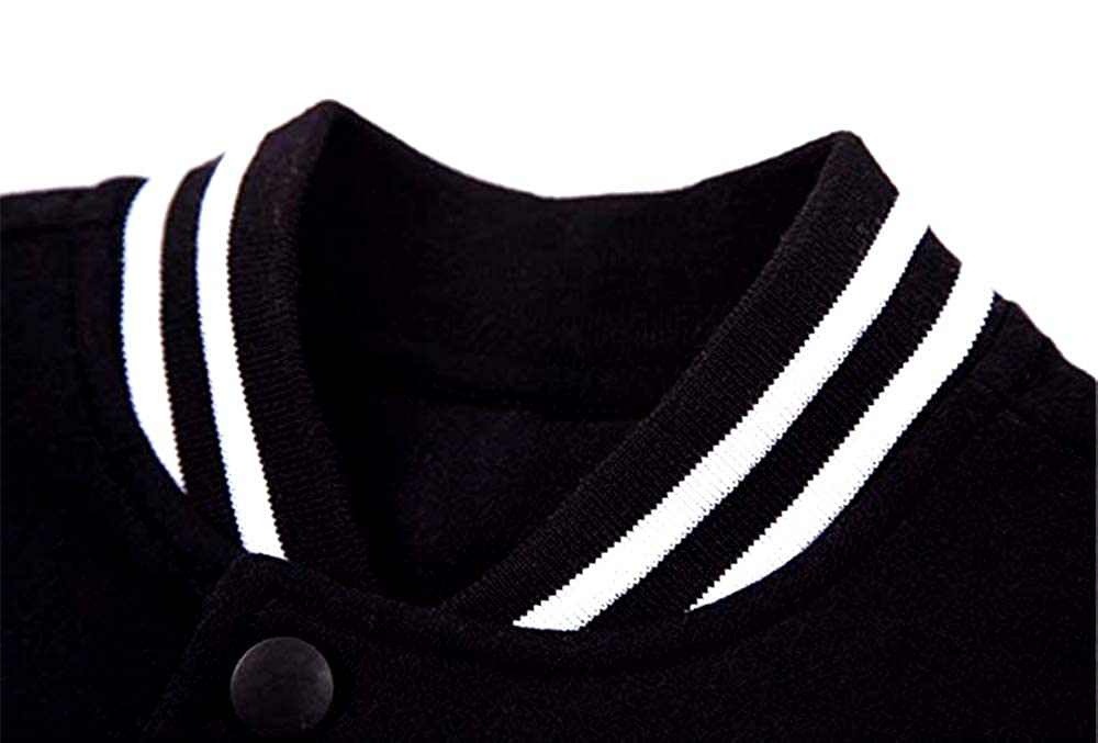 Slim Fit Varsity Baseball Jacket Real Hasta La Muerte Camisa Bomber Premium Jackets Cotton Lightweight Coats Black