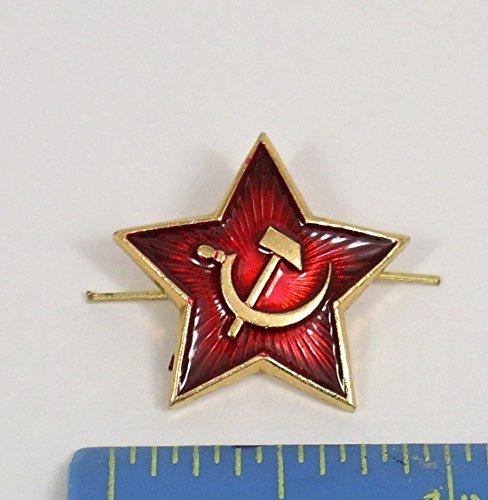 3cd44c7c373 Galleon - Russian USSR Soviet Red Army Star Hat Pin Cap Badge Kokarda   Xm.Sm.star