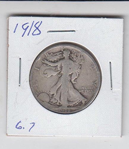 1918 Half Silver Dollar (1918 Walking Liberty Half Dollar Silver Coin Half Dollar Good)