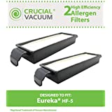 2 HF-5 Style HEPA Filters for Eureka Sanitaire, Boss, Genesis, & Other Vacuums; Compare to Eureka Part Nos. 61830, 61830A, 61840; Designed & Engineered by Think Crucial