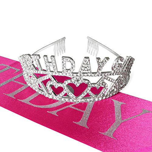 Spectre Hologram Birthday Girl Glitter Tiara and Pink