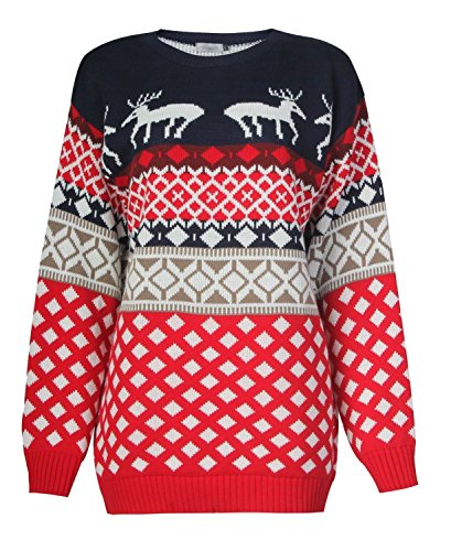 amp; Catch22 Red Reindeer Femme Four Pull Navy xxfvq7P