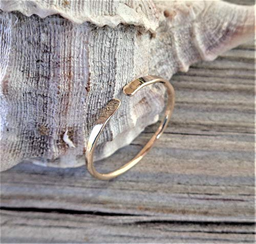 14K Solid Gold Toe-Midi-Knuckle Ring Hammered