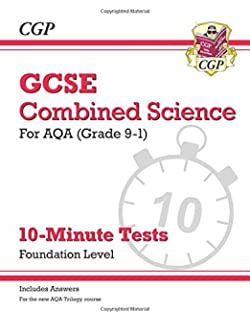 New grade 9 1 gcse combined science aqa exam practice workbook new grade 9 1 gcse combined science aqa 10 minute tests with urtaz Images