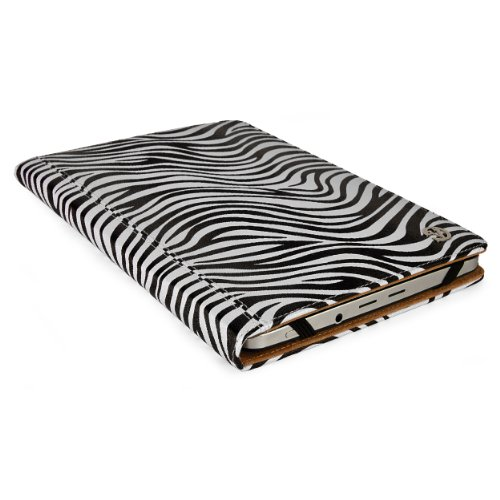 VGT Zebra Portfolio Book Style Case fits Kindle Fire 8 Inch HD with Stand, Handwrap (Case For Fire 7 Kindle Hd Zebra)