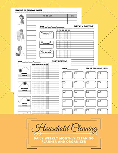 Household Cleaning Daily Weekly Monthly Cleaning Planner and Organizer: Daily, Weekly Routines for Flylady's Control Journal (US Letter size 8.5x11) for Home Management followers
