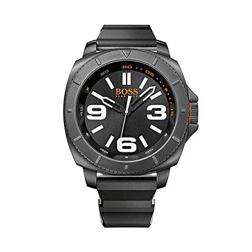 Hugo Boss Orange Collection Black Dial Black Rubber Band Watch (Boss Black Collection)