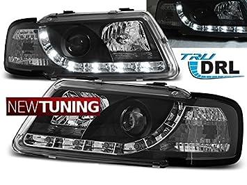 Faros delantero Audi a3 8L 08.96 - 08.00 Tru DRL negro: Amazon.es: Coche y moto