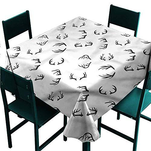 DONEECKL Square Tablecloth Deer Winter Deer Horns Barbed Bone for Kitchen Dinning Tabletop Decoration W36 xL36