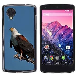 LASTONE PHONE CASE / Carcasa Funda Prima Delgada SLIM Casa Carcasa Funda Case Bandera Cover Armor Shell para LG Google Nexus 5 D820 D821 / Bird Feathers Black American