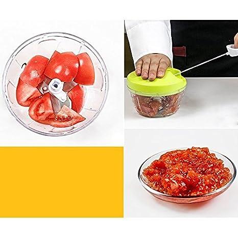 ... batidora de/para cortar frutas, verduras, frutos secos, hierbas, cebollas, garlics para salsa, ensalada, Pesto, Coleslaw, purés: Amazon.es: Hogar