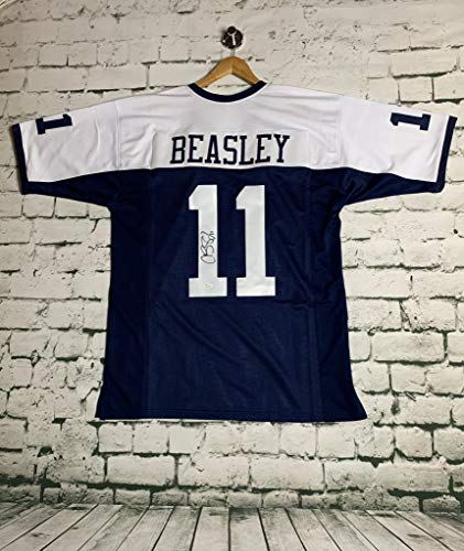 Cole Beasley #11 Autographed Pro Thanksgiving Style Dallas Cowboys Football Jersey (JSA COA)