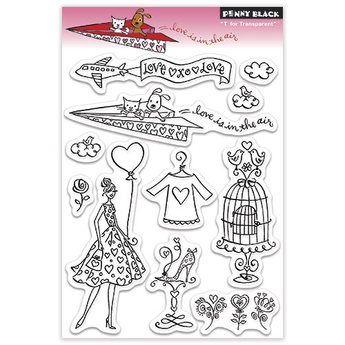 Penny Black 30-144 Clear Stamp, Love is in The Air