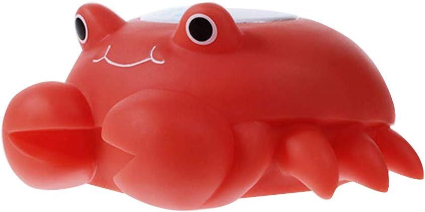 Pegcduu Cartoon Badewanne Thermometer Wiederaufladbare Babybadewanne Spielzeug Digitale Badewasser-Temperatur-Messger/ät