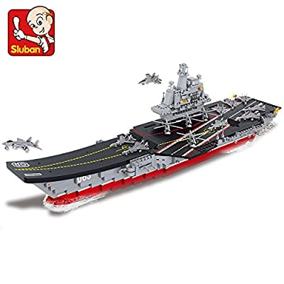 Sluban Building Blocks 1:450 Aircraft Carrier Plan Liaoning 1058pcs B0399 Compatible