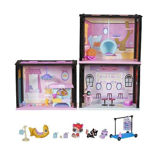 Littlest Pet Shop Style Set Playful Kitties Getaway Playset