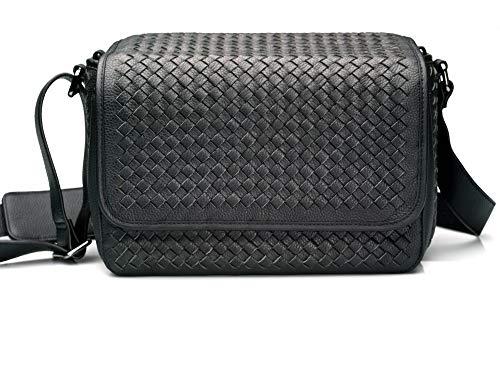 Vi Vante Targa Designer Hand Woven Leather Camera Bag Black Inner Removable Bag 2 Camera Bags in one!