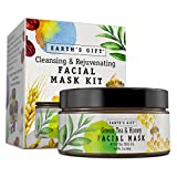 Facial Mask Using Honey - Green Tea & Honey Facial Mask Kit For Women And Men. 100% All Natural And Antioxidant Rich. Cleanses & Rejuvenates Your Skin. 10 Applications. Enjoy Being You