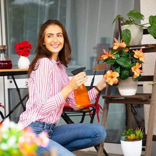3-stufig Relaxdays Blumentreppe Dunkelbraun HBT: 108 x 41 x 40 cm Leiterregal Pflanzen Blumenleiter Holz klappbar
