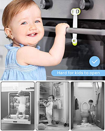 51bmhD2U2yL CHOOBY Child Safety Cabinet Locks, 10 Pack Baby Proofing Refrigerator Locks with Strong Adhesive, No Tools or Drilling, Multi-Purpose Strap Latches for Fridge, Cupboard, Toilet Seat, Drawers, Oven    Product Description