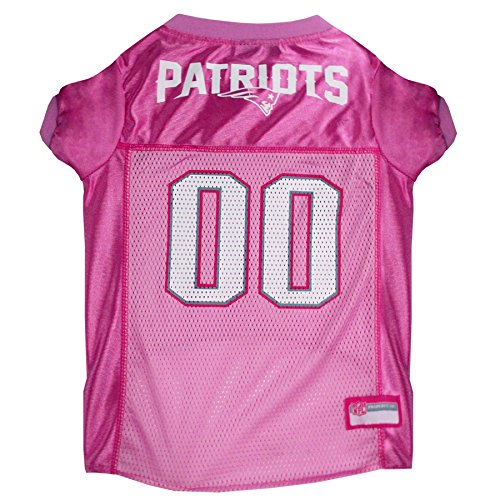 - NFL NEP-4019-MD New England Patriots Pet Pink Jersey, Medium
