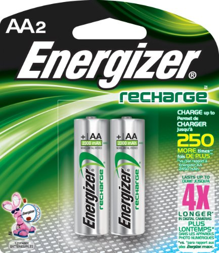 Energizer NH15BP-2 AA Nickel Rechargeable Batteries (2-Pack)