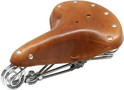 Retro Vintage Echtleder Fahrrad Sattel Fahrradsitz Mit Federung Brown