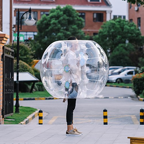 OrangeA Inflatable Bumper Ball Diameter 1.2M Bubble Soccer Ball 0.8mm PVC Transparent Material Zorb Ball for Adults and Kids (2 Pcs ) by OrangeA (Image #7)