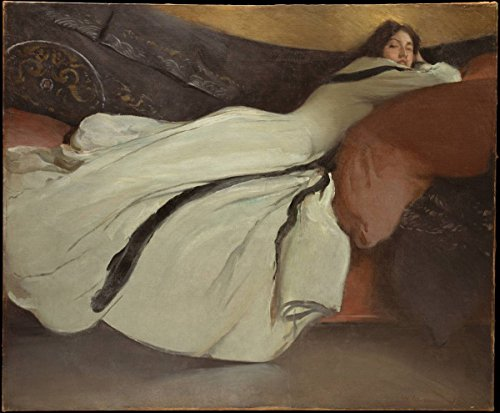 Historic Pictoric Fine Art Print   John White Alexander   Repose   Vintage Wall Art   14in x 11in