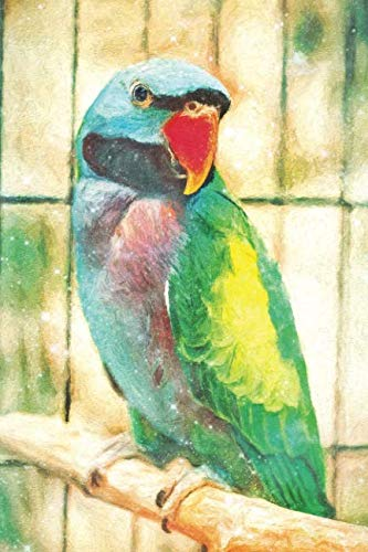 Notes: Lord Derby's Parakeet Or Psittacula Derbiana Derb - Blank College-Ruled Lined Notebook (Student Animal Journals for Writing Journaling & Note-taking) (Coloured Tropical Bird With A Large Beak)