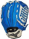 "Mizuno Prospect Baseball Glove, Royal/Cream, Youth/Kids, 10.75"", Worn on right hand"