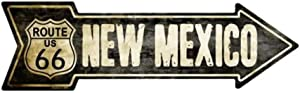 Smart Blonde Outdoor Decor Vintage Route 66 New Mexico Novelty Metal Arrow Sign A-128