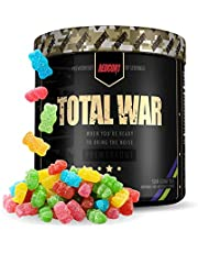 Redcon1 Total War - Pre Workout Powder, 30 Servings, (Sour Gummy) Boost Energy, Increase Endurance and Focus, Beta-Alanine, 350mg Caffeine, Citrulline Malate, Nitric Oxide Booster - Keto Friendly -…