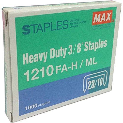 Max Heavy Duty 3/8 Inch Staples 1210FA-H- Box of 1000 ()