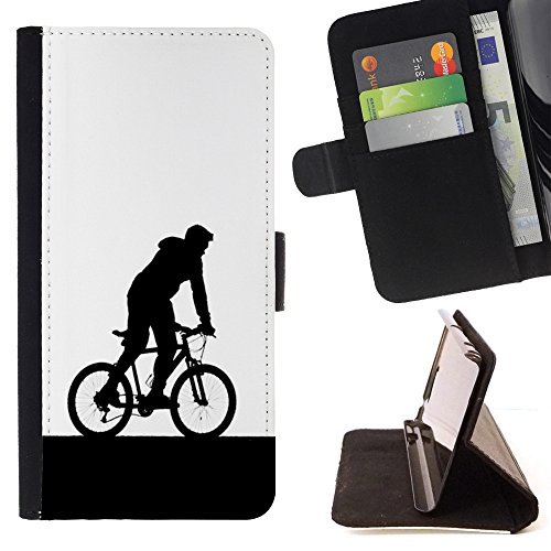 All Phone Most Case / Special Offer Smart Phone Leather Wallet Case Protective Case Cover for HTC ONE X9 // Bicycle Man Hood Art Sign Symbol Eco Sports