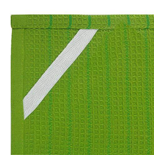 Salsa Stripe Kitchen Towels - closeup