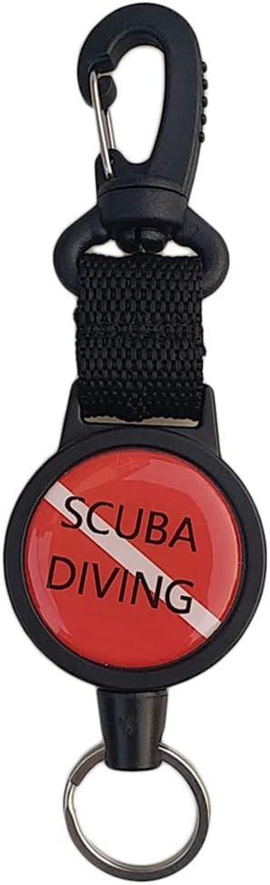 perfeclan 2pcs Scuba Diving Atemregler Keeper Halter Retractor Dive Ausziehbare Lanyard