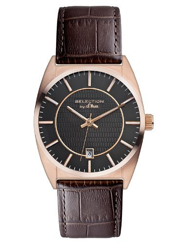 s.Oliver Men's Quartz Watch SO-2653-LQ with Leather Strap
