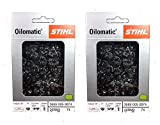 STIHL 26RM3-74 Oilomatic Rapid Micro 3 Saw Chain, 18'' 3689 005 0074-2 Pack (Limited Edition)