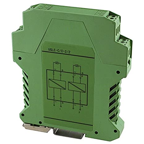 DIN Rail Mount ASI x756526 Slim Line Single Channel Loop Powered Analog Signal Isolator Transmitter for 0-20 or 4-20 mA Control Loops 1.5 kVAC Isolation