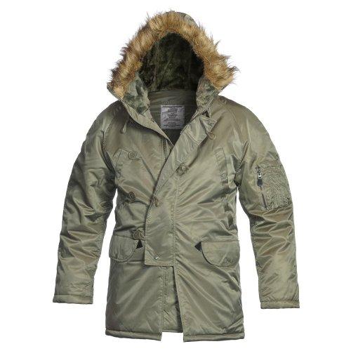 CamoOutdoor NEW USAF Military Designer Fashion Warm N3B FLIGHT JACKET N-3B Coat Flying Extreme Cold Weather PARKA OLIVE GREEN Size M