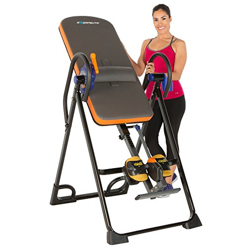 - Exerpeutic 975SL All Inclusive Heavy Duty 350 lbs Capacity Inversion Table with Air Soft Ankle Cushions, Surelock and iControl Systems